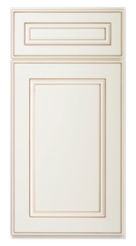 Kitchen Cabinets or Bathroom Vanities York Series in Antique White
