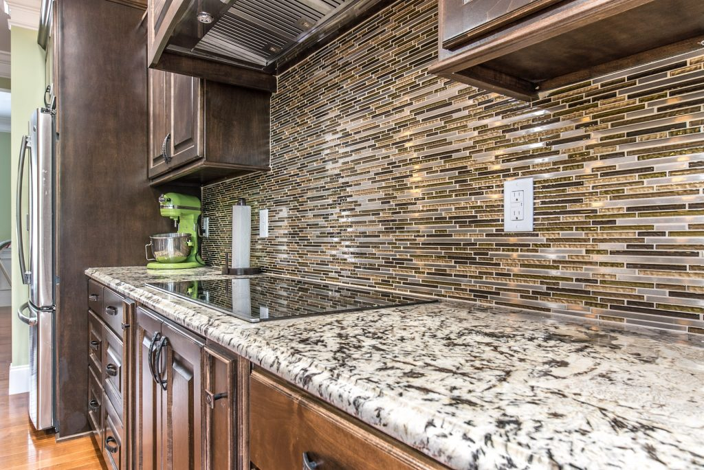 Installed granite countertops