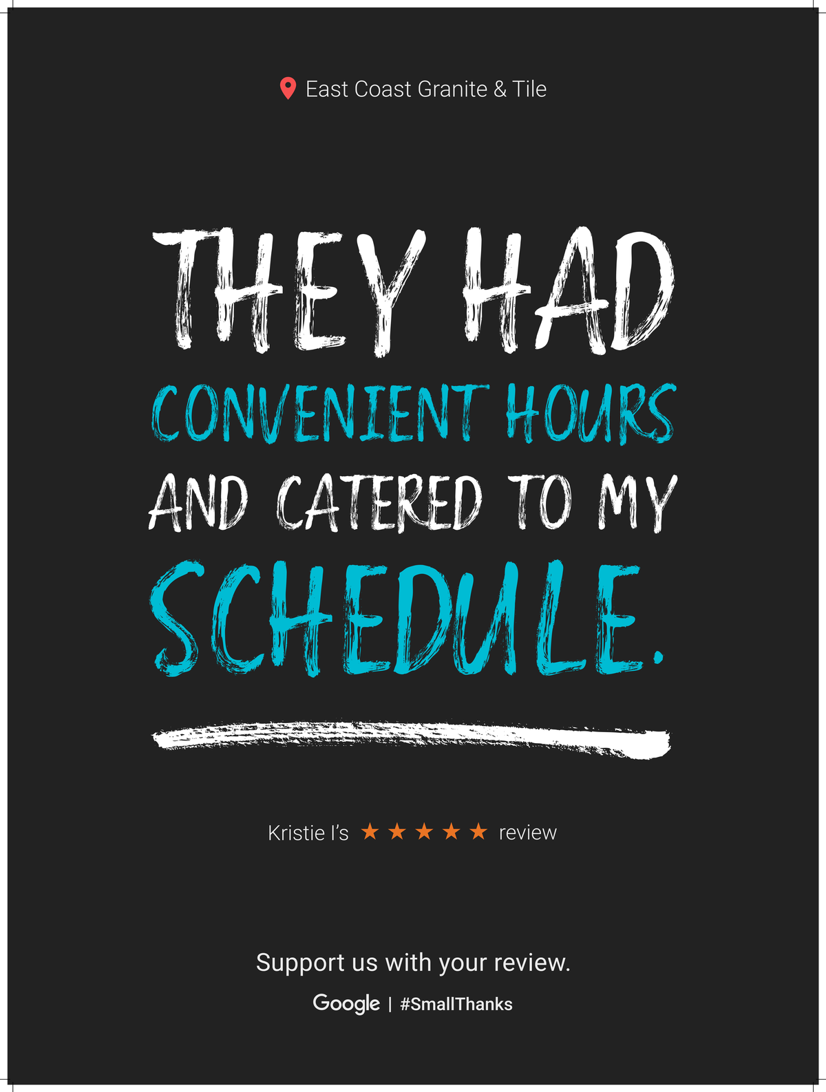 Google Review Greenville from Kristie I - They had convienient hours and catered to my schedule