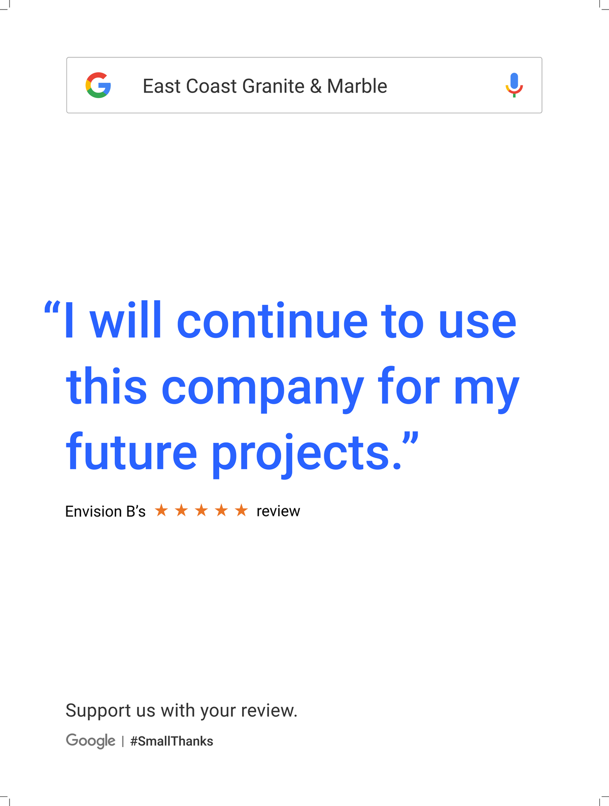 Google Review Raleigh from Envision - I will continue to use this company for my future projects