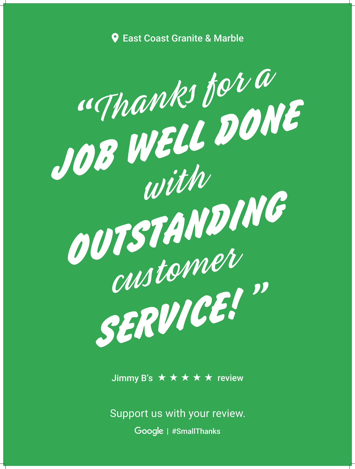 Google Review Raleigh from Jimmy B. - Great to work with and they do Excellent Work!