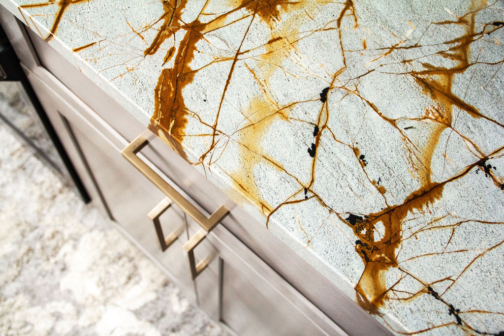 Blue Roma Quartzite is a beautiful and luxurious material that adds a timeless and upscale vibe in any space.