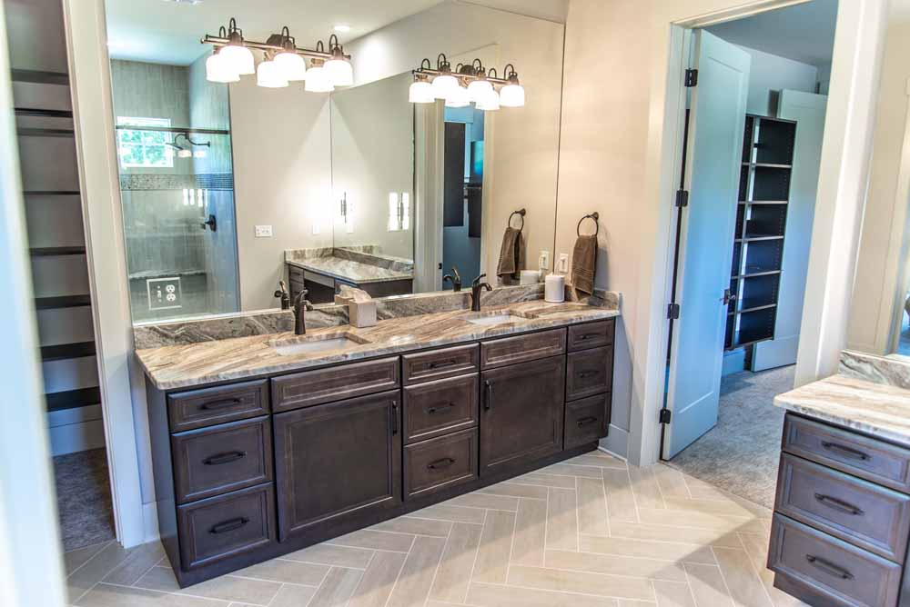 Fantasy Brown Marble Master Bathroom Vanity Top