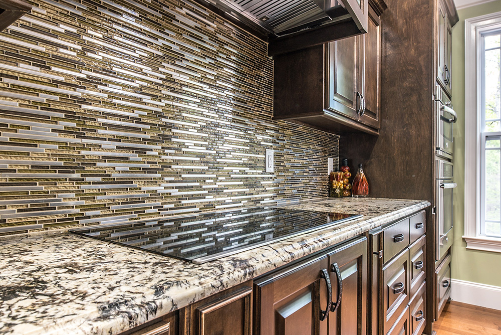 Bolero - Earthy Toned Linear Glass & Stainless Backsplash