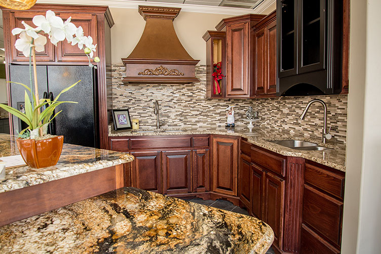 Granite Countertop Kitchen Display At Our Motor Mile Location In Greenville Sc