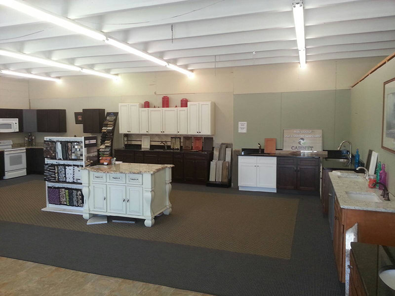 Our staff can walk you through the numerous countertop, cabinet, and tile options displayed in the Taylors showroom
