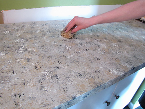 Faux DIY Granite Countertops
