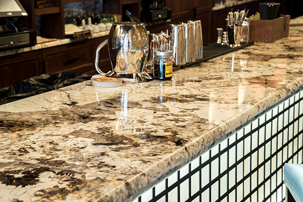 Granite Countertops in the beautiful Husk Restaurant Greenville, SC