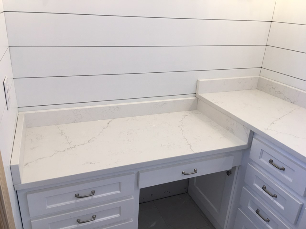 Custom Venantino Carrara Quartz Countertops